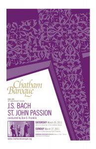 St. John Passion program booklet